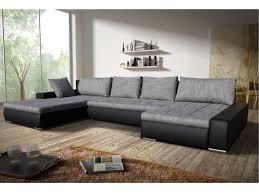 canap noir et gris canapé angle convertible tissu et simili gris noir seducto