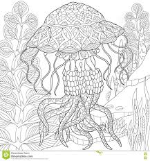 zentangle stylized jellyfish stock vector image 72012590