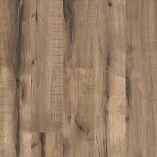 Laminate Flooring Hand Scraped Shop Style Selections 5 43 In W X 3 976 Ft L Pecan Wood Plank