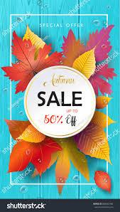 hello autumn vector illustration fall sales stock vector 688362166