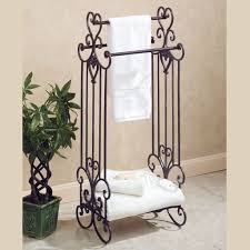 bathroom classic style metal bathroom towel storage and towel bar