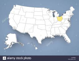 States Map Of Usa by Ohio Oh Highlighted On A Contour Map Of Usa United States Of