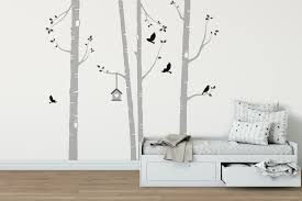 nursery wall stickers tree ideas beautiful birch tree wall stickers nursery wall stickers tree ideas
