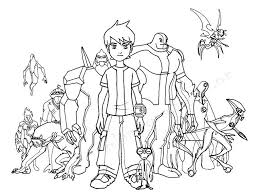 games picture ben 10 coloring pages coloring book