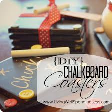 Homemade Xmas Gifts by Diy Chalkboard Coaster Set Tutorial Handmade Gift Idea Super