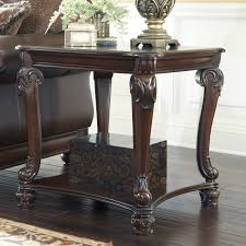 North Shore Sofa Table by Signature Design By Ashley Norcastle Brown Square End Table