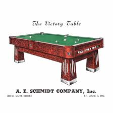 pool tables st louis the victory table a e schmidt billiard company