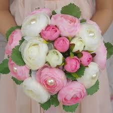 Red Wedding Bouquets Aliexpress Com Buy Wedding Flowers Bridal Bouquets Pink Orange