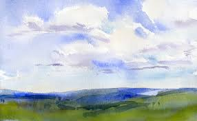 sketch of the day u2013 sky and clouds in watercolor vermont