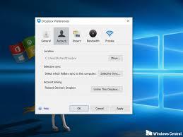 dropbox windows how to sync your dropbox folders to windows 10 windows central