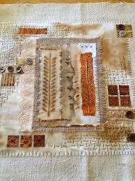 yours artfully rusty fabric art textile art fiber art