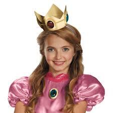 Peach Halloween Costume Super Mario Brothers Princess Peach Crown U0026 Amulet Buycostumes