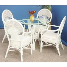 white wicker kitchen table white and whitewash rattan and wicker dining room furniture sets