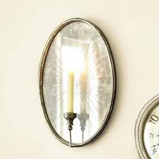 Electric Candle Sconce Wall Sconce Ideas Great Urban Mirrored Candle Sconces For Wall