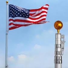 Us Flag For Sale Yeshom 25ft Flag Pole Aluminum Telescopic Flagpole Kit Us Flag