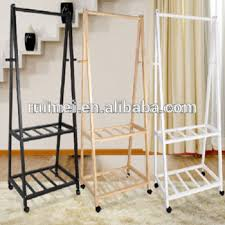 bedroom clothes 2 tiers practical bedroom clothes rack wooden stand buy bedroom