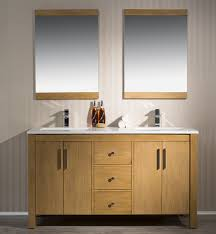 Phoenix Bathroom Vanities by 59 Inch Traditional Brown Tan Finish Double Bathroom Vanity Quartz Top