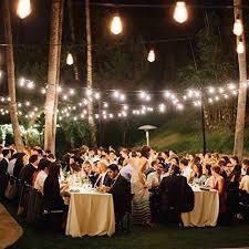 patio party lights 48ft string lighting weatherproof pool backyard