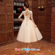 wedding dress version time syria 2015 korean version chagne color bridesmaid serving