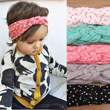 baby girl headwraps 5 colors baby kids toddler knot headbands braided headwrap polka