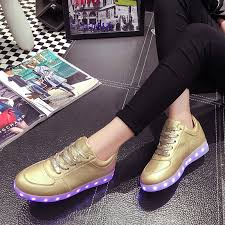 light shoes for women 2018 gift unisex led light up casual shoes lace up sportswear