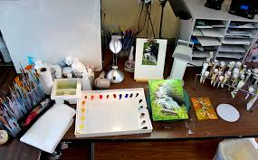 Art Studio Desk by Organizing Your Palette Work Space And Art Supplies An Artist U0027s