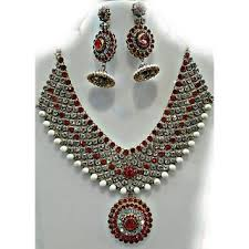 bridal jewelry necklace set images Buy bridal jewellery set online get 19 off jpg