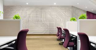 Office Board Design by Circuit Board Greige Level Digital Wallcoverings