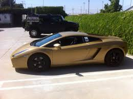 lamborghini gallardo back matte gold lamborghini gallard and mercedes sls 63amg wrap
