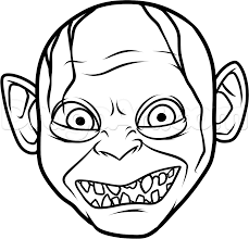 how to draw gollum easy step by step characters pop culture