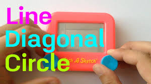 etch a sketch basic tutorial line diagonal circle youtube