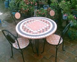 ceramic tile top patio table tiled table garden furniture lemondededom com