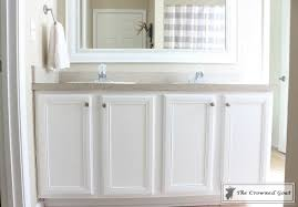 Elation Bathroom Furniture Painting A Bathroom Cabinet With General Finishes Milk Paint