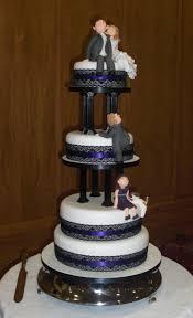 4 tier wedding cake blue blue and white wedding cake