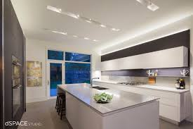 dspace atrium house modern kitchen floating linear cabinets