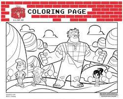 free printables disney u0027s wreck ralph coloring sheets