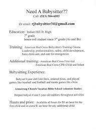 Child Care Resume Samples by Download Babysitter Resume Objective Haadyaooverbayresort Com