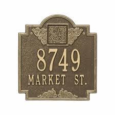 monogram plaques whitehall monogram standard wall address plaque two line 5006