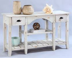 Willow Distressed White Console Table From Progressive Furniture