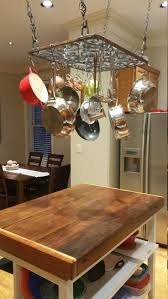 Kitchen Island Pot Rack Best 25 Pan Rack Ideas On Pinterest Pot Rack Pot Rack Hanging