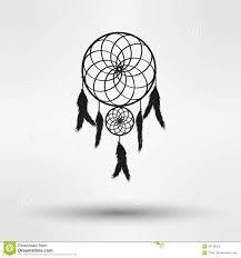 dragon dream catcher dream catcher silhouette in black color isolated on white