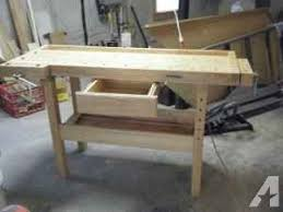 white gate woodworking bench with wood vises lynchburg concord