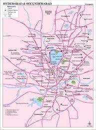 hyderabad u0026 secunderabad city map city map of hyderabad