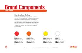 Color Palette Pantone Five Guys Identity Manual By Gabriel Valdivia Issuu