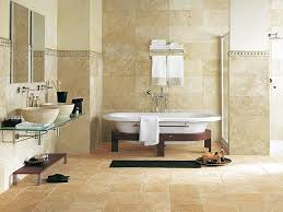 Bathroom Contemporary Bathroom Tile Design by Bathroom Design Classic Floor Tile Bathroom White Bath Tub Cream