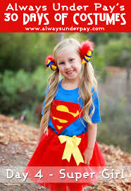 supergirl halloween costumes day 4 u2013 super inspired diy halloween costume tutorial