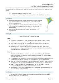 Lpi Sample Essay The Kite Runner Search Results Teachit English