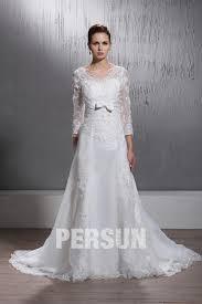 robe de mariã e manche longue dentelle robe de mariée dentelle à ligne a encolure en v à manches longues