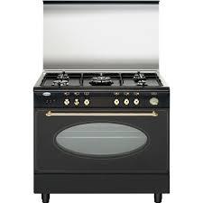 piano de cuisine pas cher cuisinière gaz centre de cuisson 90cm glem gu960cmr noir achat