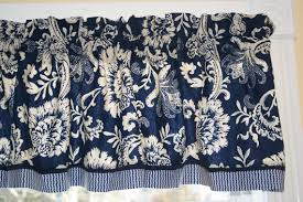 Blue Toile Curtains Fancy Waverly Toile Curtains Ideas With Classica Waverly Navy Blue